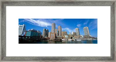 Skyscrapers At The Waterfront, Boston Framed Print by Panoramic Images
