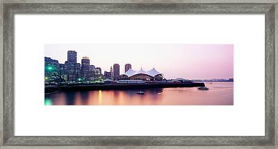 Skyscrapers At The Waterfront, Charles Framed Print