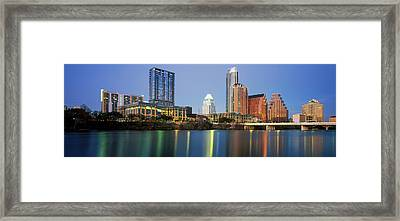 Skyscrapers At The Waterfront, Lady Framed Print by Panoramic Images