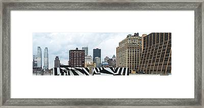 Skyscrapers In A City, Lower West Side Framed Print by Panoramic Images
