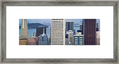 Skyscrapers In The Financial District Framed Print