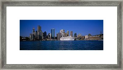 Skyscrapers On The Waterfront, Sydney Framed Print by Panoramic Images