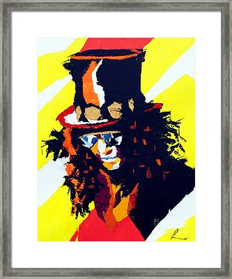 Slash Framed Print by Edgar Rafael