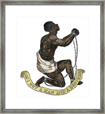 Slavery Abolition, 1835 Framed Print by Granger