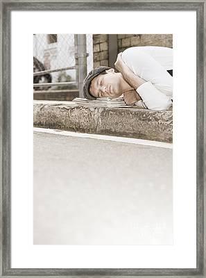 Sleeping On The Job Framed Print