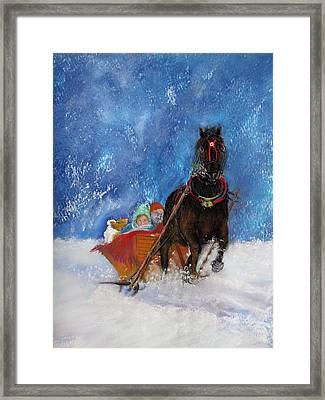 Sleigh Ride Framed Print by Loretta Luglio