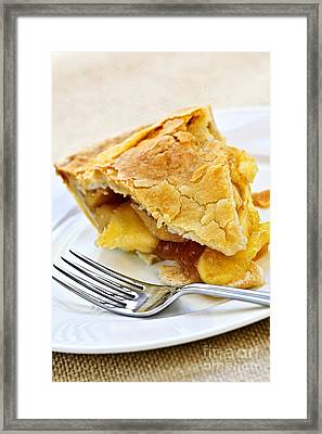 Slice Of Apple Pie Framed Print by Elena Elisseeva