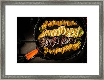 Slices Of Carrots Framed Print by Aberration Films Ltd
