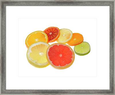 Slices Of Citrus Fruit Framed Print by Cordelia Molloy