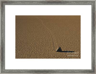 Sliding Rock On Racetrack Playa Framed Print