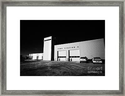 slimmon road fire station Saskatoon Saskatchewan Canada Framed Print by Joe Fox