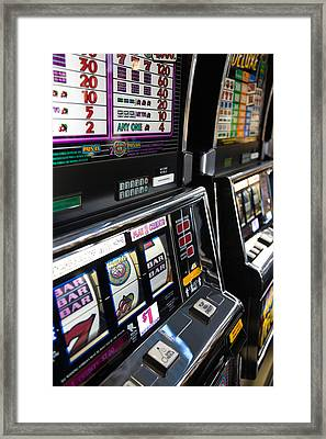 Slot Machines At An Airport, Mccarran Framed Print by Panoramic Images