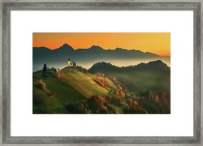 Slovenian Autumn... Framed Print