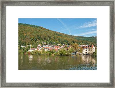 Small Town On The Neckar River, Germany Framed Print by Michael Defreitas