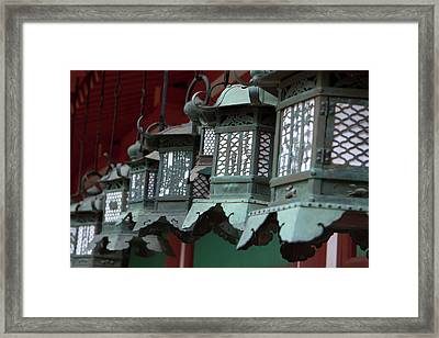 Smaller Metal And Gold Lanterns Framed Print by Paul Dymond