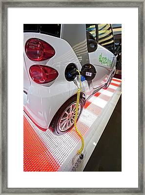 Smart Fortwo Electric Car Framed Print by Jim West