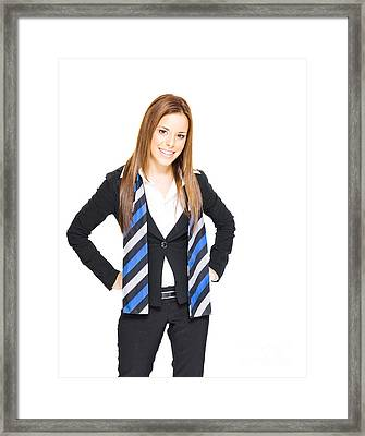 Smiling Business Woman Framed Print