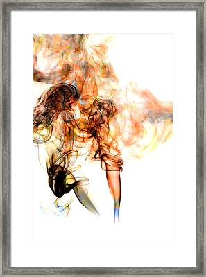 Smoke Abstract Framed Print