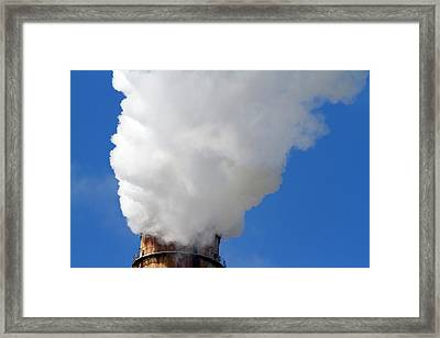 Smoke And Steam Emission At The Teco Framed Print