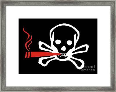 Smoker Skull And Crossbones Framed Print