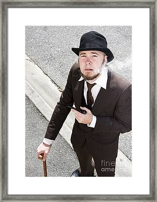 Smokey Streets Of Yesterday Framed Print by Jorgo Photography - Wall Art Gallery