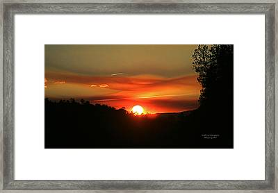 Smokin' Payson Sunset Framed Print