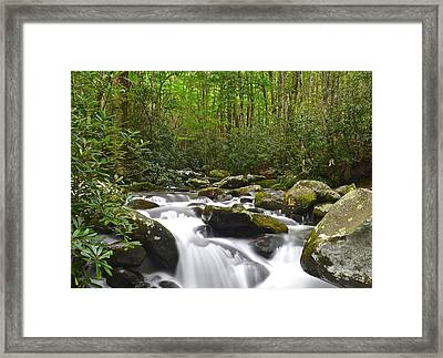 Smoky Mountain National Park Framed Print by Frozen in Time Fine Art Photography