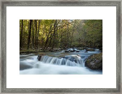 Smoky Mountain Stream Framed Print by Doug McPherson