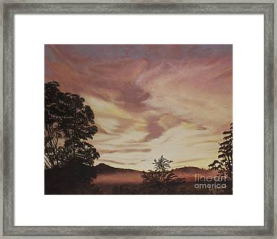 Smoky Mountain Sunset Framed Print