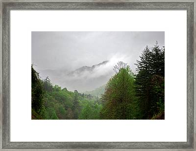 Smoky Mountains Framed Print by Lawrence Boothby