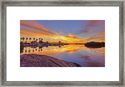 Smyrna Yacht Club Sunrise II Framed Print by Danny Mongosa