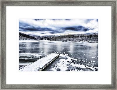 Snow Big Ditch Lake Framed Print