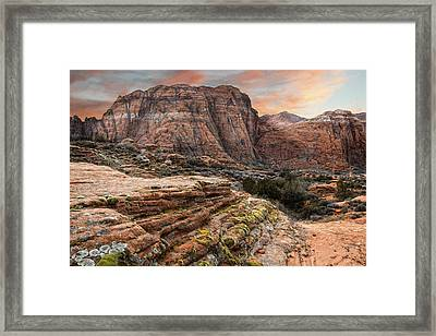 Snow Canyon State Park Utah Framed Print