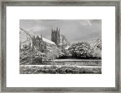 Snow Covered Cathedral 2 Framed Print