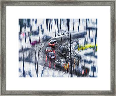 Snow Fall Framed Print