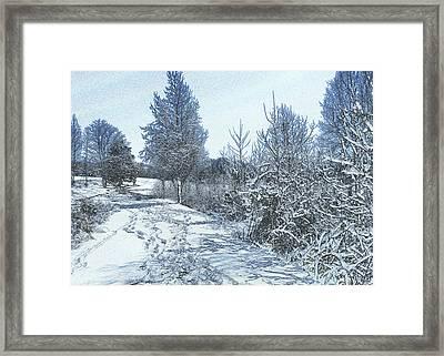 Snow Near Goose Feather Pond - C1449k Framed Print by Paul Lyndon Phillips