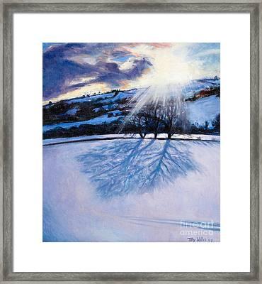 Snow Shadows Framed Print by Tilly Willis