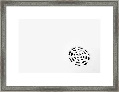 Framed Print featuring the photograph Snow Strainer by Ed Cilley