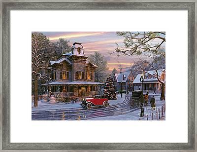 Snow Streets Framed Print by Dominic Davison
