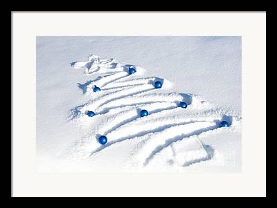 Christmas Trees Shape Framed Prints