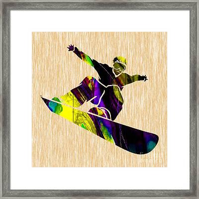 Snowboarding Framed Print