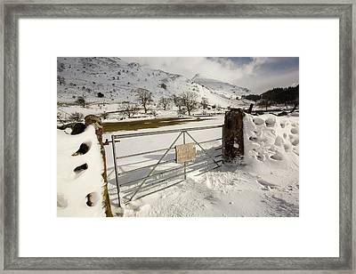 Snowdrifts Below Helvellyn Framed Print by Ashley Cooper