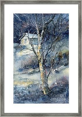 Snowfall Framed Print