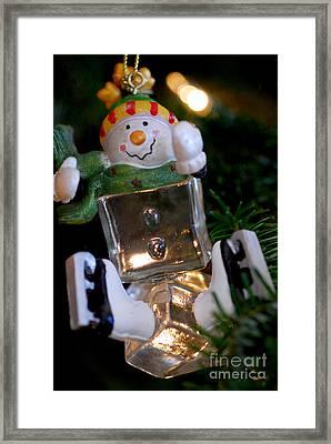Snowman Ornament Framed Print by Birgit Tyrrell