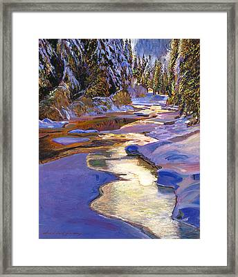 Snowy Creek Framed Print by David Lloyd Glover