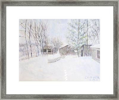 Snowy February Day Framed Print