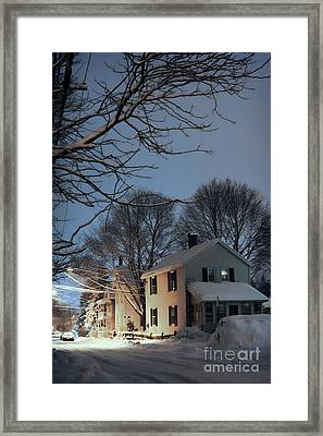 snowy night in Northampton Framed Print by HD Connelly