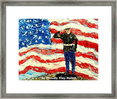 So Proudly They Hailed  Framed Print by Mark Moore