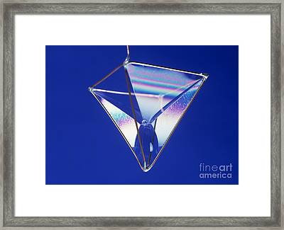 Soap Films On A Pyramid Framed Print by Andrew Lambert Photography