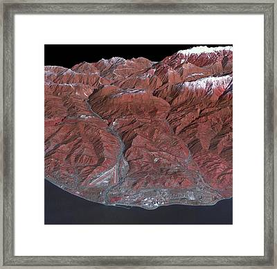 Sochi Winter Olympics Framed Print by Nasa/gsfc/meti/ersdac/jaros/us-japan Aster Science Team